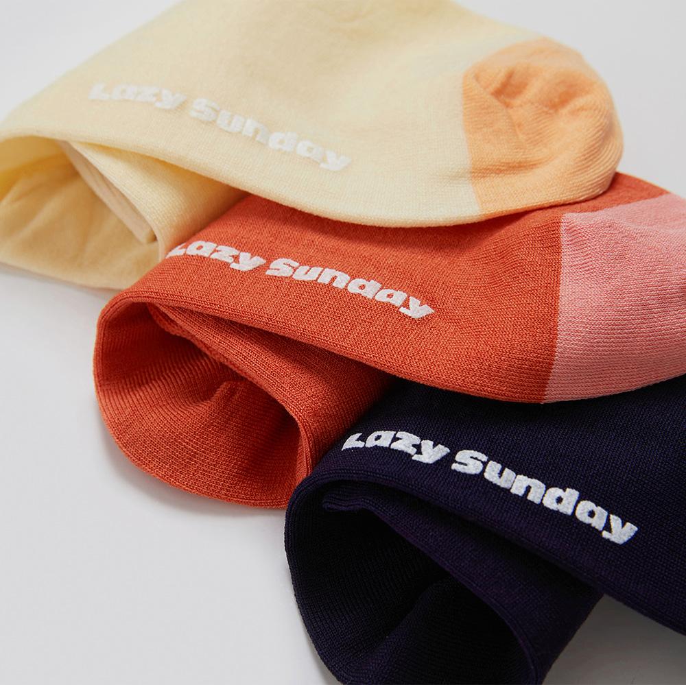 레이지선데이(LAZY SUNDAY) Color Block socks (yellow)